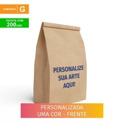 SACO S.O.S DELIVERY TRADICIONAL PERSONALIZADO - TAMANHO G - 200 UNIDADES - MIX0222 - CaixaMix Embalagens