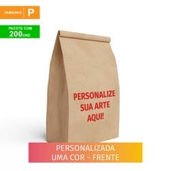 SACO S.O.S DELIVERY TRADICIONAL PERSONALIZADO - TAMANHO P - 200 UNIDADES - MIX0221 - CaixaMix Embalagens