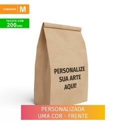 SACO S.O.S DELIVERY TRADICIONAL PERSONALIZADO - TAMANHO M - 200 UNIDADES - MIX0220 - CaixaMix Embalagens