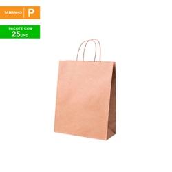 SACOLA KRAFT PARA DELIVERY - TAMANHO P - 25 UNIDADES - MIX0172 - CaixaMix Embalagens