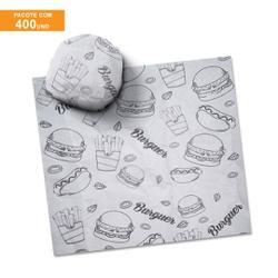 PAPEL MANTEIGA PARA LANCHE PRIME FAST FOOD 40x40CM - 400 UNIDADES - MIX0203 - CaixaMix Embalagens