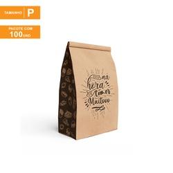 SACO S.O.S PREMIUM PARA DELIVERY BLACK GOURMET MOD02 - TAMANHO P | 100 UNIDADES - MIX0063P-BG02 - CaixaMix Embalagens