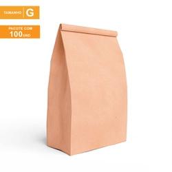 SACO S.O.S PREMIUM PARA DELIVERY LISO - TAMANHO G | 100 UNIDADES - MIXSKG-LISO - CaixaMix Embalagens