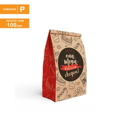 SACO S.O.S PREMIUM PARA DELIVERY RED GOURMET - TAMANHO P | 100 UNIDADES - MIX0063P-RG01 - CaixaMix Embalagens
