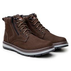 Bota ACT Footwear Zip One Café + Meia Brinde - calcadolivre.com.br