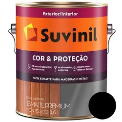 ESMALTE SINTETICO BRILHANTE COR E PROTEÇÃO PRETO 3... - Calura