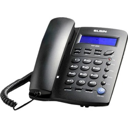 TELEFONE C/ FIO C/IDENTI. PRETO TCF 3000 ELGIN - Calura