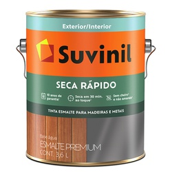 ESMALTE ACETINADO 3,6LT BRANCO BASE AGUA SECA RAPI... - Calura