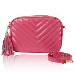 Bolsa Lobby Pink Verniz Show - CAMPEZZO