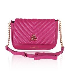 Bolsa Pink Anna de Couro com Matelassê - CAMPEZZO