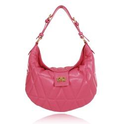 Bolsa de Ombro Sarah Couro Pink Blush - CAMPEZZO