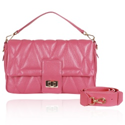 Bolsa Baguette Carrie Pink Blush - CAMPEZZO