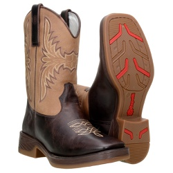 Bota Texana Masculina Cano Médio em Couro Bovino - 8212 - CAPELLI BOOTS