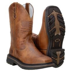 Texana Country Masculina Modelo Novo em Couro Cor Castor - 87176 - CAPELLI BOOTS