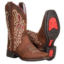 Bota Texana Montaria Em Couro Cano Medio - 56125 - CAPELLI BOOTS