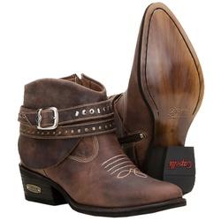 Bota Country Texana Feminina Com Fivelas - 3106-cafe - CAPELLI BOOTS