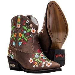 Texana Country Com Bordado Floral Em Couro - 3107 - CAPELLI BOOTS
