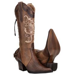 Bota Feminina Country Texana De Cano Longo - 3147 - CAPELLI BOOTS