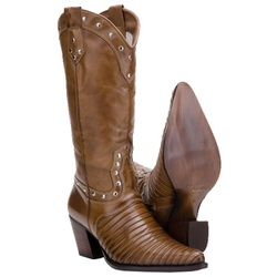 Texana Feminina Em Couro Legítimo Escamada - 3061-tatu - CAPELLI BOOTS