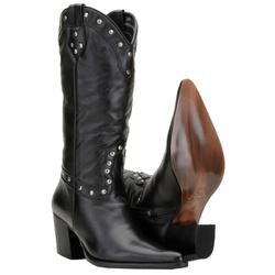 Bota Country Feminina Texana De Bico Fino - 3061-preto - CAPELLI BOOTS
