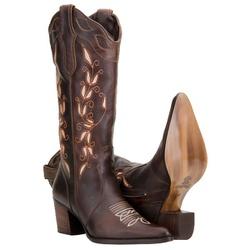 Bota Country Feminina Cano Longo e Bordado - 3124 - CAPELLI BOOTS