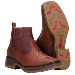 Botina Texana Country De Bico Quadrado - 1020-havana - CAPELLI BOOTS