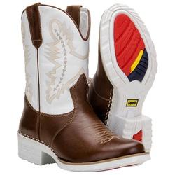 Bota Country Texana Com Solado Branco - 019 - CAPELLI BOOTS