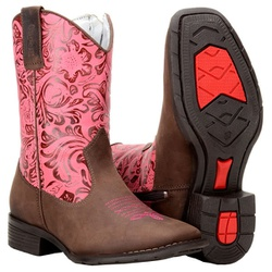 Bota Country Infantil Cano Floral - 574 - CAPELLI BOOTS