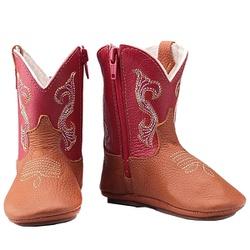 Texana Baby Country Couro Vermelho - Baby-Verm - CAPELLI BOOTS