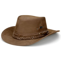 Chapeu Country Em Couro Cor Tabaco - AusL-tab - CAPELLI BOOTS