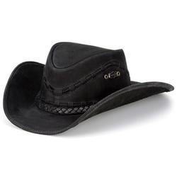 Chapéu Texano Modelo Couro Legítimo - TexPtT - CAPELLI BOOTS