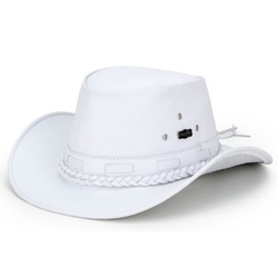 Chapéu Mala Couro Masculino Branco - MalaBc - CAPELLI BOOTS