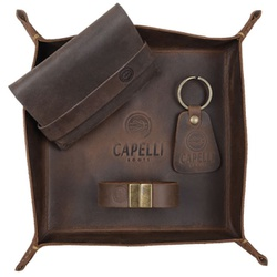 Kit Em Couro Legítimo Cor Tabaco - Kit PT Tabaco - CAPELLI BOOTS