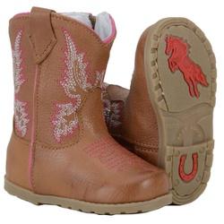 Texana Infantil Baby Solado Borracha - 054cas-rosa - CAPELLI BOOTS