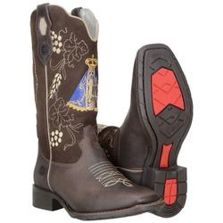Bota Texana Feminina Com Bordado Nossa Senhora - 58150 - CAPELLI BOOTS