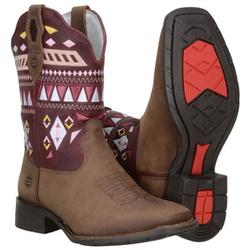 Texana Montaria Feminina Cano Curto Com Bordados - 52145 - CAPELLI BOOTS