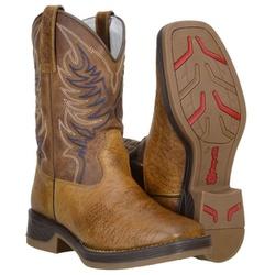 Texana Masculina Em Couro De Mamute Cor Castor - 8099-Castor - CAPELLI BOOTS
