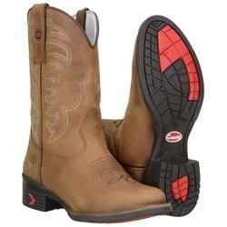 Texana Country Masculina Couro Crazy Horse Castor - 8170 - CAPELLI BOOTS
