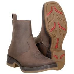 Botina Texana Masculina De Cano Alto Com Zíper - 9021 - CAPELLI BOOTS