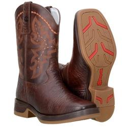 Texana Country Masculina Couro Mamute Café - 8110-Mamute - CAPELLI BOOTS