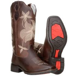 Texana Country Feminina De Cano Longo Café - 58151-cafe - CAPELLI BOOTS
