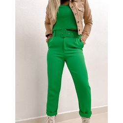 Calça Alfaiataria Thais Verde Bandeira - 71079 - CAROLLA FERRARO