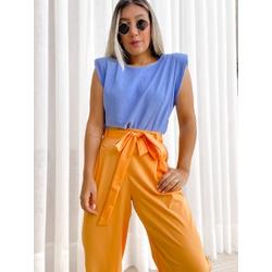 Blusa Muscle Loren Azul - 70300 - CAROLLA FERRARO