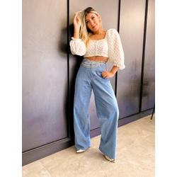 Calça Pantalona Jeans - 70652 - CAROLLA FERRARO