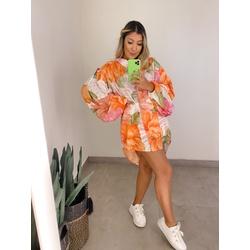 Camisa Over Floral - 70812 - CAROLLA FERRARO
