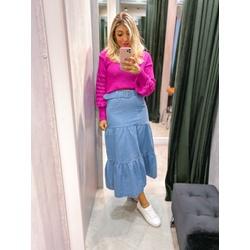 Saia Midi Jeans - 69427 - CAROLLA FERRARO