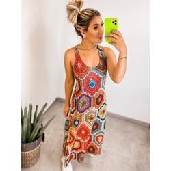 Vestido Longo Étnico - 69717 - CAROLLA FERRARO
