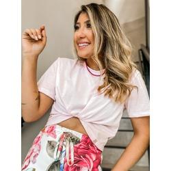 Cropped Camiseta CF Rosa - 66501 - CAROLLA FERRARO