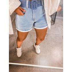 Short jeans Cinto Claro - 67671 - CAROLLA FERRARO