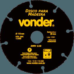 Disco Para Madeira 110mm Dmv110 - Vonder - Casa Anzai